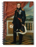 Portrait Of French Politician And Soldier Etienne Maurice Gerard Spiral Notebook