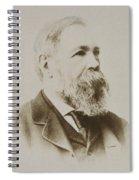 Portrait Of Friedrich Engels Spiral Notebook