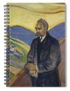 Portrait Of Friedrich Nietzsche Spiral Notebook