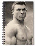 Portrait Of George Hackenschmidt Spiral Notebook