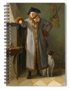 Portrait Of Gottlieb Christian Heigelen As A Hunter Spiral Notebook