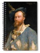 Portrait Of Gustave Courtois Spiral Notebook