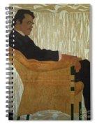 Portrait Of Hans Massmann Spiral Notebook