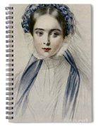 Portrait Of Her Majesty Queen Victoria As A Young Woman By Emile Desmaisons Spiral Notebook