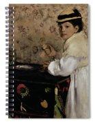 Portrait Of Hortense Valpincon As A Child Spiral Notebook