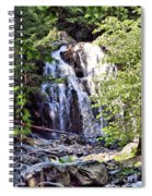 Portrait Of Houston Brook Falls Spiral Notebook