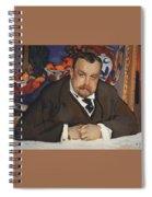 Portrait Of Ivan Morozov 1910 Valentin Serov Spiral Notebook