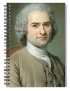 Portrait Of Jean Jacques Rousseau Spiral Notebook