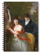 Portrait Of Jean-louis Gustave D'hautefort And His Sister Marie-therese-thais D'hautefort Spiral Notebook