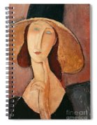 Portrait Of Jeanne Hebuterne In A Large Hat Spiral Notebook