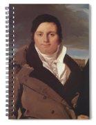 Portrait Of Joseph Antoine Moltedo Spiral Notebook