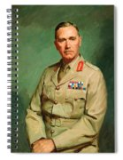 Portrait Of Lieutenant - General The Honorable Sir Edmund Herring Spiral Notebook