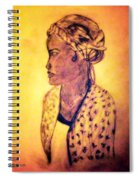 Portrait Of Lovely African Woman Spiral Notebook