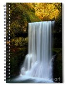 Portrait Of Lower South Falls Spiral Notebook