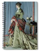 Portrait Of Madame Louis Joachim Gaudibert Spiral Notebook