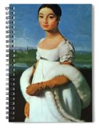 Portrait Of Mademoiselle Riviae 1805 Spiral Notebook