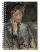 Portrait Of Maria Bal Spiral Notebook