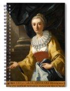 Portrait Of Maria Cavalcanti Ametrano Duchess Of San Donato Spiral Notebook