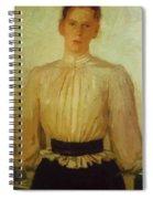 Portrait Of Maria Tolstaya Leo Tolstoy Daughter Spiral Notebook