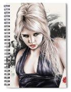 Portrait Of Miss Mosh Spiral Notebook