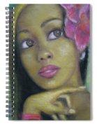 Portrait Of Monica Spiral Notebook