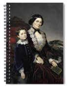 Portrait Of Mother And Son Spiral Notebook