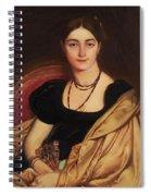 Portrait Of Mrs Devauay Spiral Notebook