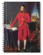 Portrait Of Napolan Bonaparte The First Council 1804 Spiral Notebook