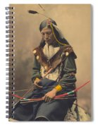 Portrait Of Oglala Sioux Council Chief Bone Necklace Spiral Notebook