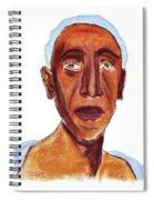 Portrait Of Old Man Spiral Notebook