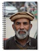 Portrait Of Pathan Tuk Tuk Rickshaw Driver Peshawar Pakistan Spiral Notebook
