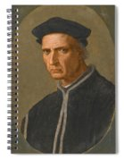 Portrait Of Piero Soderini Half Length Wearing A Black Coat And A Black Hat Spiral Notebook