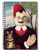 Portrait Of Pierre Loti Spiral Notebook
