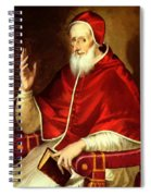 Portrait Of Pope Pius Spiral Notebook