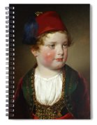 Portrait Of Prince Victor Odescalchi  In Greek Costume At The Age Of Five Spiral Notebook