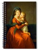 Portrait Of Princess Alexandra Golitsyna And Her Son Piotr Spiral Notebook