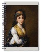 Portrait Of Princess Belozersky Lisabeth Louise Vige Le Brun Spiral Notebook