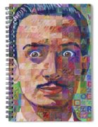 Portrait Of Salvador Dali Spiral Notebook