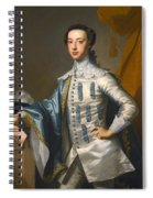Portrait Of Sir James Lowther 1st Earl Of Lonsdale Three Quarter Length Holding A Mask In His Right  Spiral Notebook