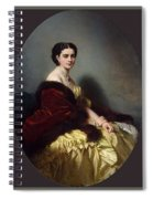 Portrait Of Sophia Petrovna Naryshkina Franz Xavier Winterhalter Spiral Notebook