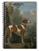 Portrait Of The Duke Of Hamilton Hound Spiral Notebook