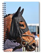 Portrait Of The Horse In The Hood Spiral Notebook