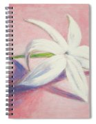 Portrait Of The Jasmine Flower Spiral Notebook