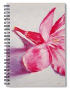 Portrait Of The Kaneri Flower. Oleander Spiral Notebook