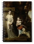 Portrait Of The Ladies Amabel And Mary Jemima Yorke Spiral Notebook