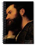 Portrait Of The Poet Pietro Aretino Spiral Notebook