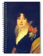 Portrait Of The Princess A Scherbatova 1808 Spiral Notebook