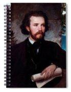 Portrait Of The Singer Karl Wallenreiter Spiral Notebook