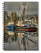 Portrait Of The Ucluelet Trawlers Spiral Notebook
