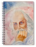 Portrait Of The Us-american Poet Walt Whitman Boris Grigoriev Spiral Notebook